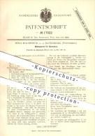 Original Patent - Wilh. Malmwieck Jr. In Ravensburg , 1881 , Kühlapparat Für Bierwürze , Brauerei , Alkohol !!! - Historische Dokumente
