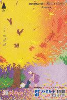 Carte Prépayée Japon - Série SHORT STORY - Quatre Saisons - Saison AUTOMNE Forêt Insecte - AUTUMN Insect Japan Card - 03 - Saisons