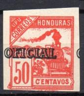 Honduras  Dienstmarke Mi. DM 25U Geschnitten 1898 - Eisenbahnen