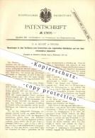 Original Patent - F. A. Haase In Weida , 1881 , Konservierung Von Organischen Substanzen , Nahrungsmittel !!! - Historische Dokumente