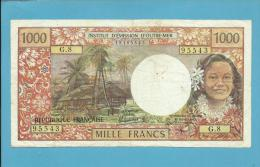 TAHITI - PAPEETE - 1000 Francs - ND ( 1985 ) - Pick 27.d - Sign. 5 - French Polynesia - 2 Scans - Papeete (Polynésie Française 1914-1985)