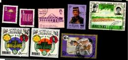 Brunei Scott N°255.257.306.511.133.134.168.230..oblitérés. - Brunei (1984-...)