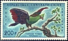 BIRDS-TOURACO-CENTRAL AFRICA-1960-MNH-B4-255 - Cuckoos & Turacos