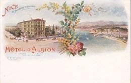 CPA : 06. NICE . HOTEL D'ALBION. E. BERTSCHI - Cafés, Hôtels, Restaurants