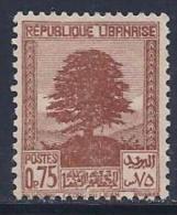 Lebanon, Scott # 138A Unused No Gum Cedar, 1940 - Lebanon