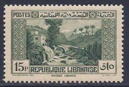 Lebanon, Scott # 143 Mint Hinged Dog River Bridge, 1938 - Liban