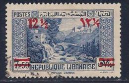Lebanon, Scott # 151 Used Dog River Bridge, Surcharged, 1939 - Liban