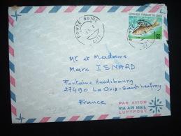 LETTRE PAR AVION POUR LA FRANCE TP POISSON MONGANDZA 60F OBL. 4-1-?8 POINTE NOIRE CITE - Oblitérés