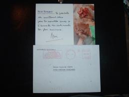 LETTRE EMA F 2800 à 0230 Du 21 1 91 PARIS PALAIS BOURBON 7e ASSEMBLEE NATIONALE +RENE BOUQUET DEPUTE MAIRE D'ALFORTVILLE - Marcophilie (Lettres)