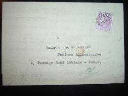 LETTRE (PLI) TP CERES DE MAZELIN PREO 1F50 VARIETE E CROCHET + TELE-DICT + Ets M.J. BONNOTTE - Préoblitérés