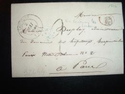 LETTRE (PLI) OBL. 2 MAI 1846 LOUVRES (72) (95 VAL D'OISE) + BOITE RURALE K - Postmark Collection (Covers)