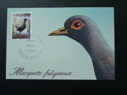 Carte Maximum Card Polynésie Française Marquette Fuligineuse Ref 52969 - Storks & Long-legged Wading Birds