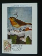 Carte Maximum Card Monaco 1962 Rouge Gorge Ref 56559 - Vögel