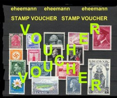 GERMANY WWII ERA- VOUCHER TO SELECT YOURSELF !! -- REALISTIC & SENSIBLE PRICES - Unused Stamps