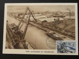 Carte Maximum Card 1956 Port De Strasbourg Harbour Ref 59701 - Bateaux