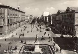 BARI-CORSO VITTORIO EMANUELE-AUTOBUS-1954-TIMBRO MOSTRA STORICA NAZIONALE DELLA MINIATURA-PALAZZO VENEZIA ROMA - Bari