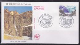 = Série Touristique Le Cirque De Gavarnie Enveloppe 1er Jour 23 7 88 N°2547 Haut Lieu Naturel Des Pyrénées - FDC