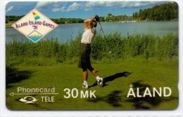 ALAND PHONECARD(GPT) THE CASTELHOM GOLF COURSE CN:4FINA-5000pcs -6/91-MINT(5)