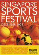 15S : Sport : Singapore Sports Festival : Football, Basketball, Volleyball, Rugby, Softball Etc Promo Adcard - Soccer