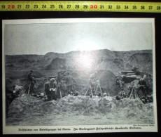 DOCUMENT PHOTO GUERRE 14/18 SOLDATS MONTS DE LIERRE LIER SOLDAT ECRIVANT UNE LETTRE - Reproductions