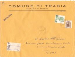 COMUNE DI TRABIA - 90019 - PROV PALERMO - R - 1980 - FTO 18X24 - TEMATICA TOPIC STORIA COMUNI D´ITALIA - Affrancature Meccaniche Rosse (EMA)