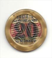 """MONACO -=- MONTE CARLO -=- Jeton CASINO Société Des Bains De Mer  """" S.B.M. """" - 20 Francs - Casino"""