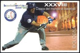 ITALIA BOLOGNA 2009 - XXXVIII COPPA DEL MONDO DI BASEBALL - I AM BASEBALL - CARTOLINA UFFICIALE - Baseball