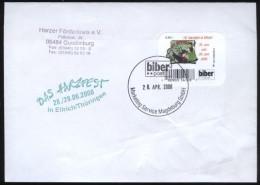 Biber Post Brief Mi 41 (16. Harzfest In Ellrich)  Glatt Neue Tel 42 Cent (2. Auflage, Enger Abstand)(28.4.2008) Bpb362b - [7] République Fédérale