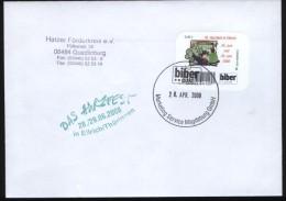 Biber Post Brief Mi 41 (16. Harzfest In Ellrich)  Glatt Neue Tel 42 Cent (2. Auflage, Enger Abstand)(28.4.2008) Bpb362c - [7] République Fédérale