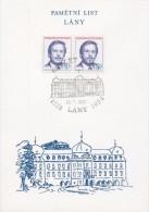 J0870 - Czechoslovakia (1992) Commemorative Sheet / Lany: 600 Years Of Village (president Vaclav Havel, Abdication Day) - Blocks & Sheetlets