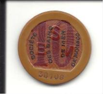 """MONACO -=- MONTE CARLO -=- Jeton CASINO -=-  Société Des Bains De Mer  """" S.B.M. """" -=-10 Francs - Casino"""