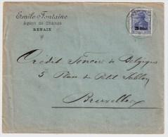 Dt. Bes. Belgien, 1918, 25 Cent- Brief -  #1414 - Weltkrieg 1914-18