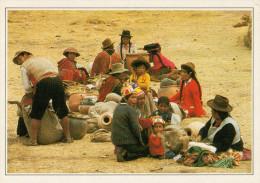 PERU�    CALCA:  IL  MERCATO      (NUOVA CON DESCRIZIONE DEL SITO SUL RETRO)