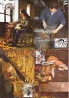 Maximumkaarten, Nr 4079/4083, Spinster, Fileuse, Hoefsmid, Marechal Ferrand, Klompenmaker, Sabotier, Cordonnier (6240) - 2001-2010