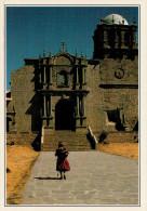 PERU'   CUSCO:  LA CHIESA DI SAN PEDRO       (NUOVA CON DESCRIZIONE DEL SITO SUL RETRO) - Perù