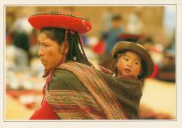PERU'   CHINCHEROS: DONNA CON  BAMBINO       (NUOVA CON DESCRIZIONE DEL SITO SUL RETRO) - Perú