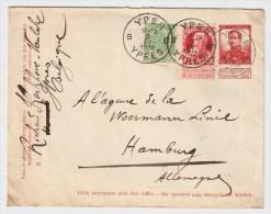 Belgien, 1912, Ausland-Brief, Seltene Mischfrankatur!      #1408 - 1905 Breiter Bart