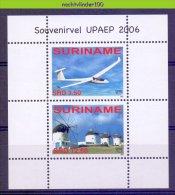 Nch1394 TRANSPORT VLIEGTUIG MOLEN UPAEP U.P.A.E.P. MILL PLANE MUHLE SEGELFLUGZEUG SURINAME 2006 PF/MNH - Vliegtuigen