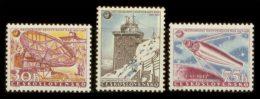 CZECHOSLOVAKIA 1957 ** - Satellite, Geophysical Year - YT 939-941; CV = 10 € - Space