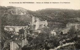 CPA - Environs De RETOURNAC (43) - Vue Sur Les Ruines Du Château De Chalencon Et La Préfecture - Retournac