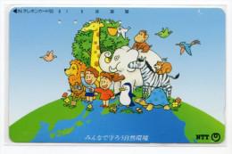 JAPON  TELECARTE ELEPHANT DESSIN - Japón