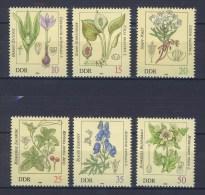 East Germany GDR 1982 Toxic Plants Poisonous Flowers Flora Nature Plant DDR Stamps MNH SC.2254-2259 Michel 2691-2696 - Toxic Plants