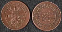 Indes Hollandaises 1857 2 Cent 1/2 - Dutch East Indies