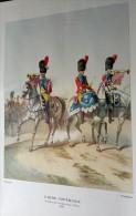 Gravure/Estampe En Couleur GARDE IMPERIALE ESCADRON DE GENDARMERIE D´ELITE 1804 - TROMPETTE - TIMBALIER * - Documents