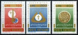 Vatican City 1976 Eucharistic Philadelphia Congress Religion Religious Stamps MNH SG#656-658 SC592-594 Michel 680-682 - Unused Stamps