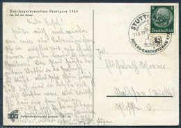 1939 Germany DR  Stuttgart Reichs Gartenschau DFW Postkarte - Germany