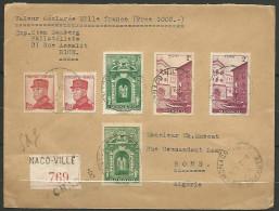 LETTRE RECOMMANDER DE MONACO  POUR BONE / ALGERIE ANNEE 1930