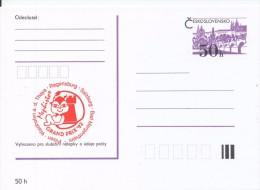 J0875 - Czechoslovakia / Postal Stationery (1992) International Chess Tournament Mephisto GRAND PRIX '92 (red) - Scacchi