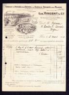 Voitures Pour Enfants & Fauteuils Roulants Pour Malades .Eug. VINCENT& Cie, 141bd St Gemain , Paris .2 Factures - 1900 – 1949