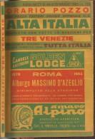 """VECCHIO ORARIO FERROVIARIO  """"POZZO""""  ALTA ITALIA -ANNO 1964 - Europa"""